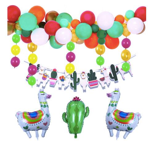 balloon-garland-banner-cactus-theme-party