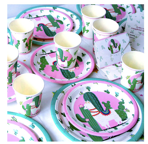 cactus-party-supplies-pink-and-green-plates-cups