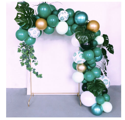 Safari baby shower balloon garland DIY